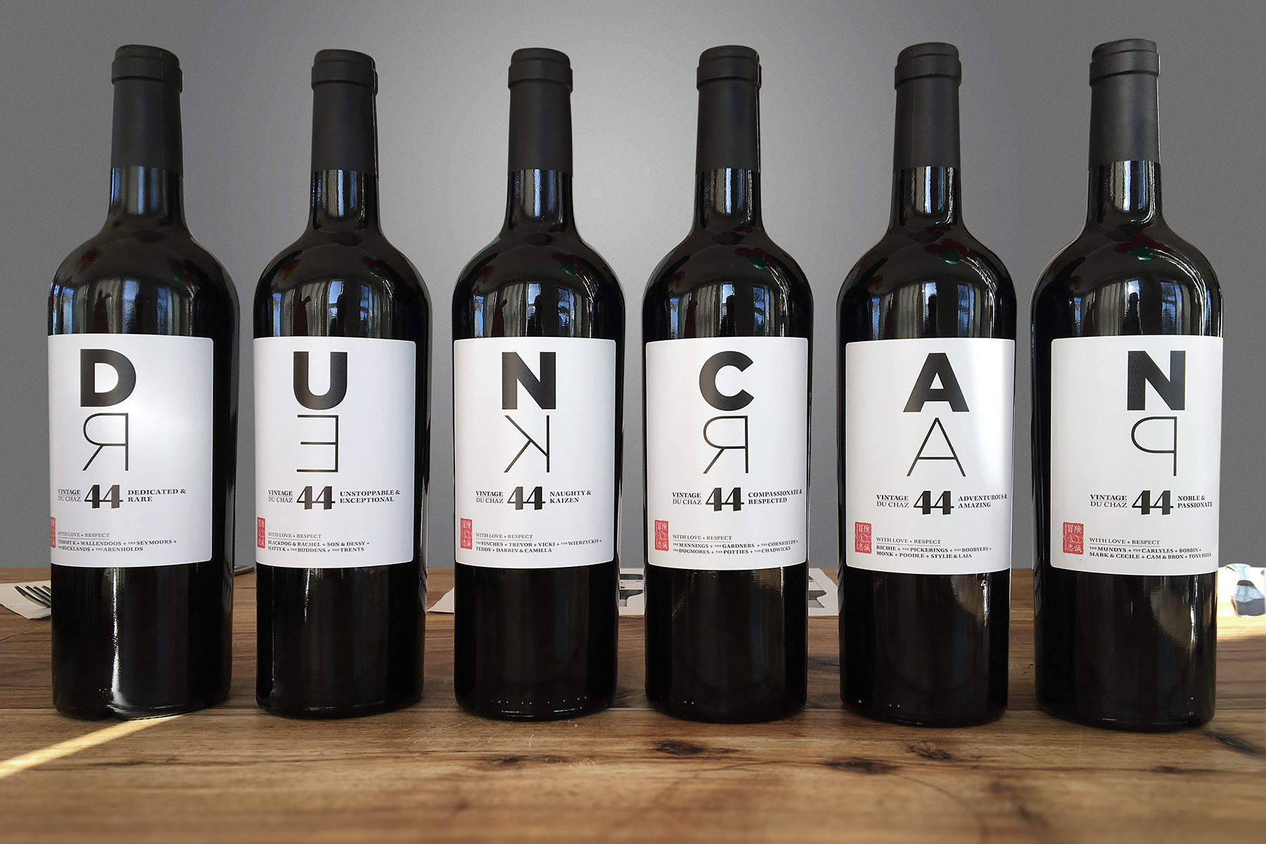 A series of 6 wine label designs created for a dear friend > Firedog ...