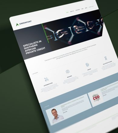 Greenpoint Capital - Financial services home page design